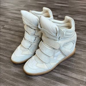 Isabel Marant Shoes - Isabel Marant Bekett Sneaker Suede Ecru Beige